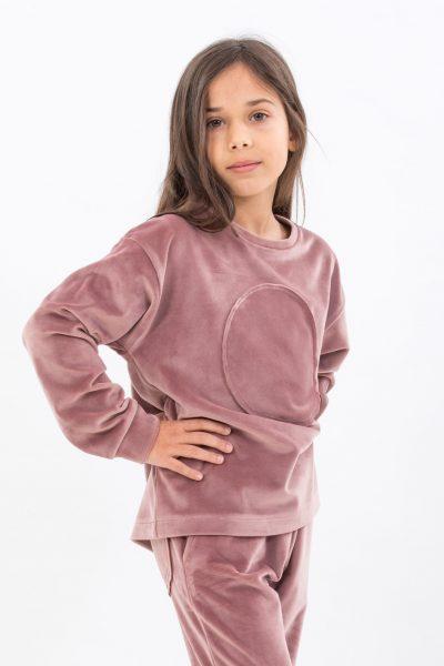 Bluza soft pink velvet