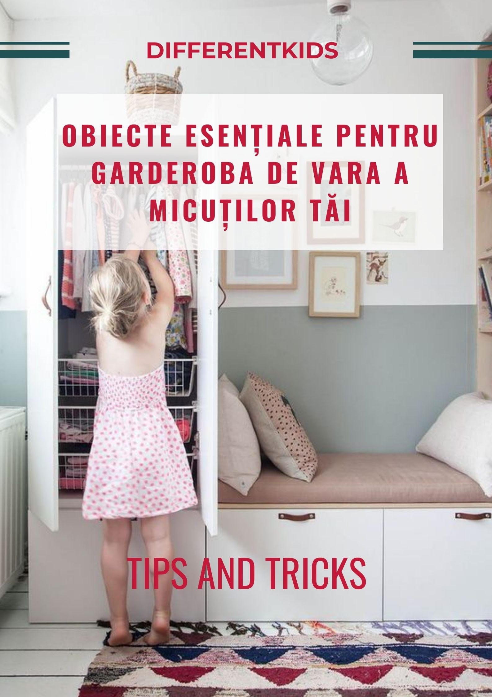 Ce obiecte esențiale trebuie să conțină garderoba de vară a micuților tăi
