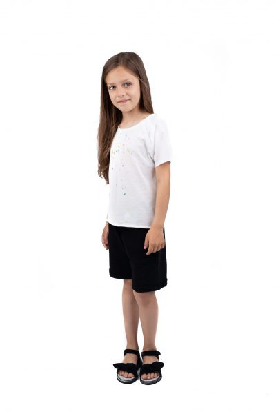 Tricou Spalsh white cotton